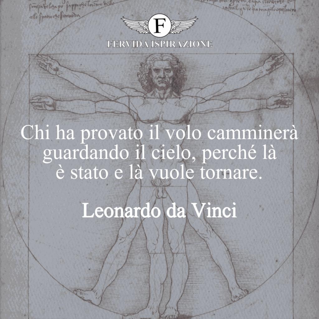 Frase sul volo di Leonardo da Vinci