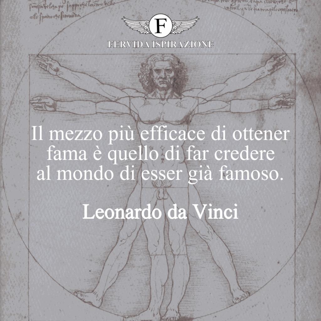 Citazioni sulla Fama di Leonardo da Vinci