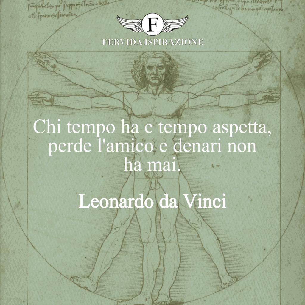 Frase sul tempo di Leonardo da Vinci
