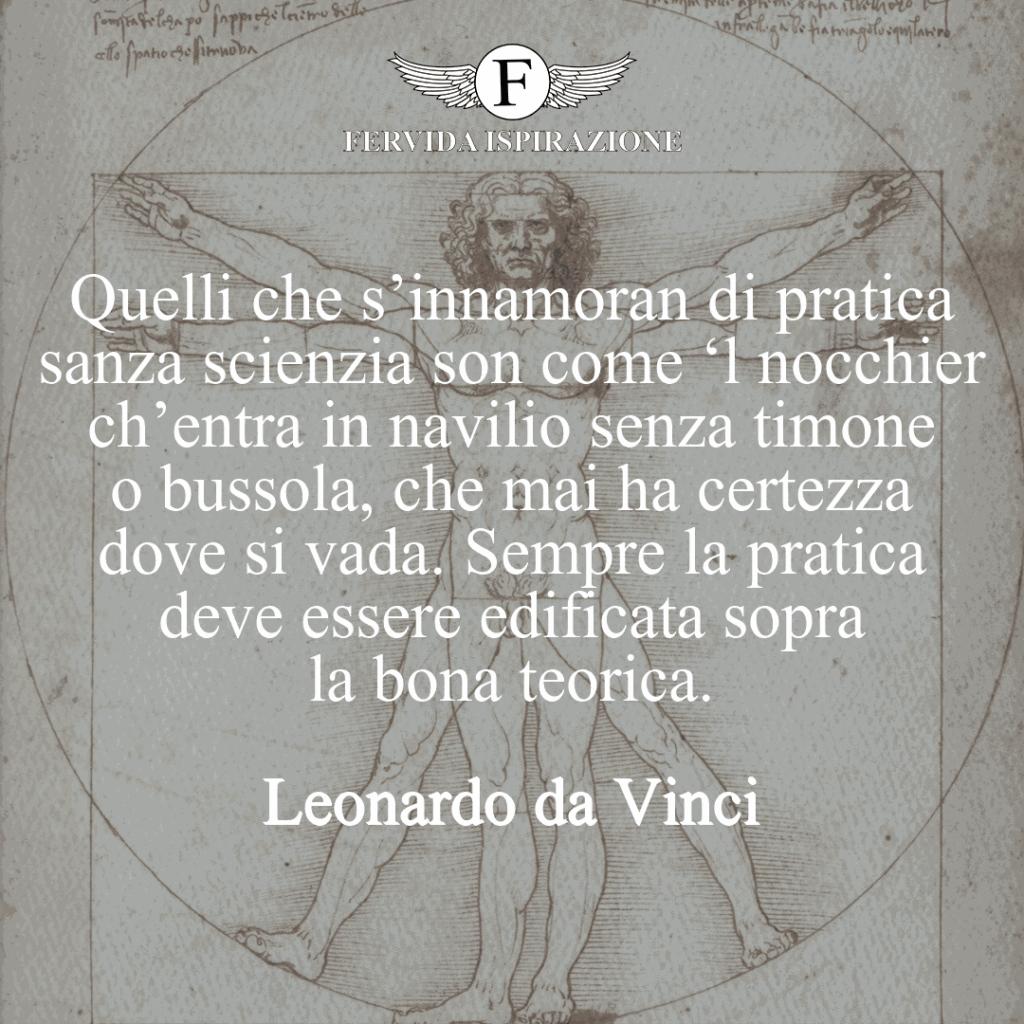 Citazione di Leonardo da Vinci sulla Scienza