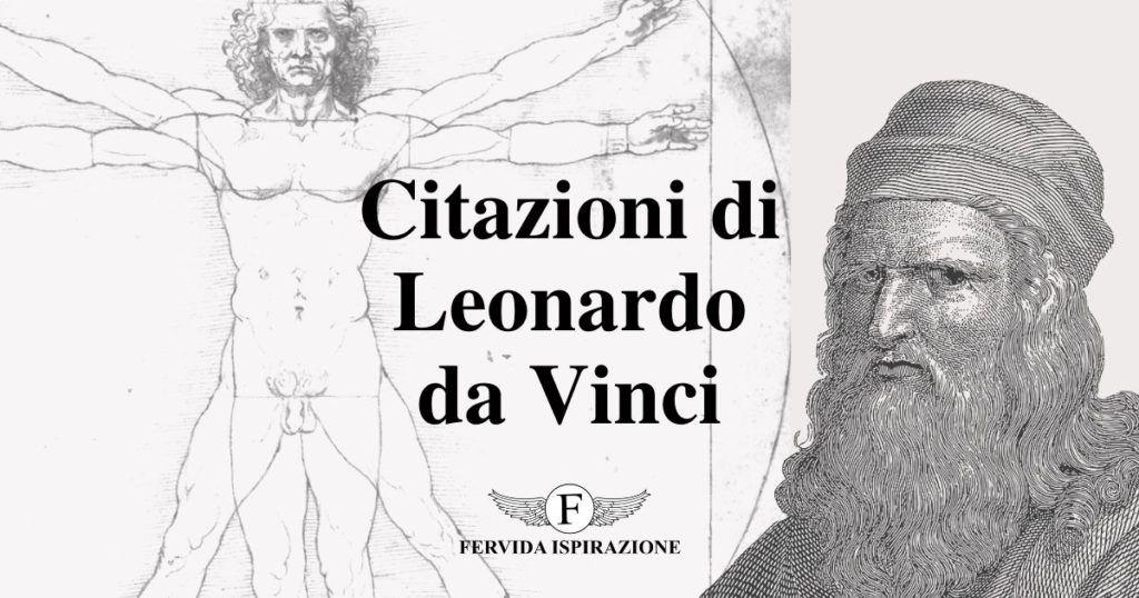 Citazioni di Leonardo da Vinci - Copertina Articolo - Fervida Ispirazione