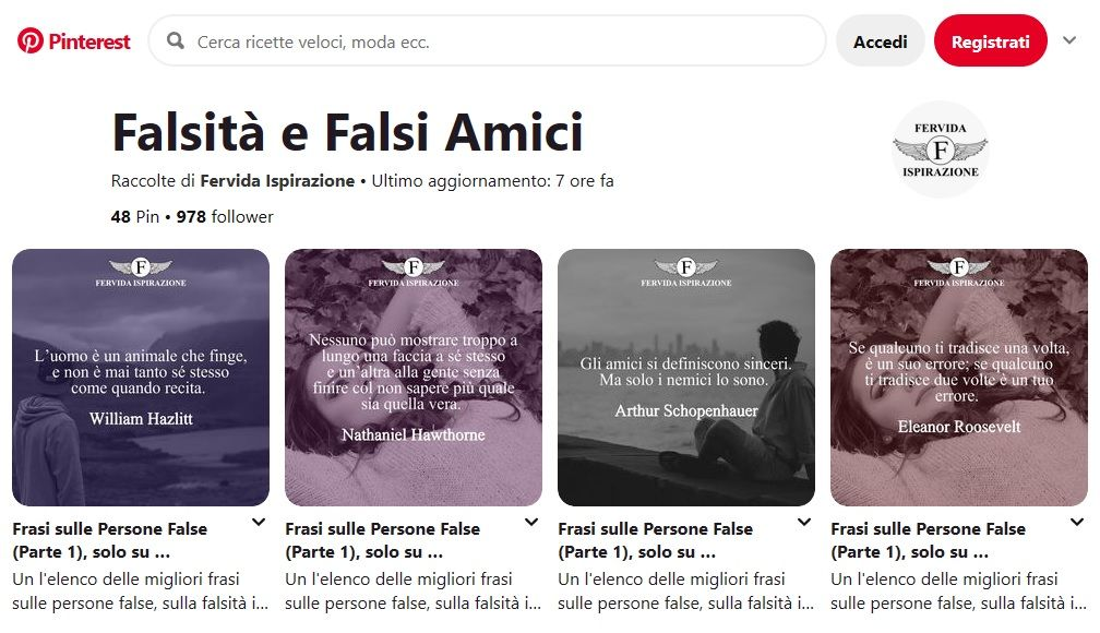 Frasi Sulle Persone False, Sulla Falsità, Sui Falsi Amici - Bacheca Pinterest