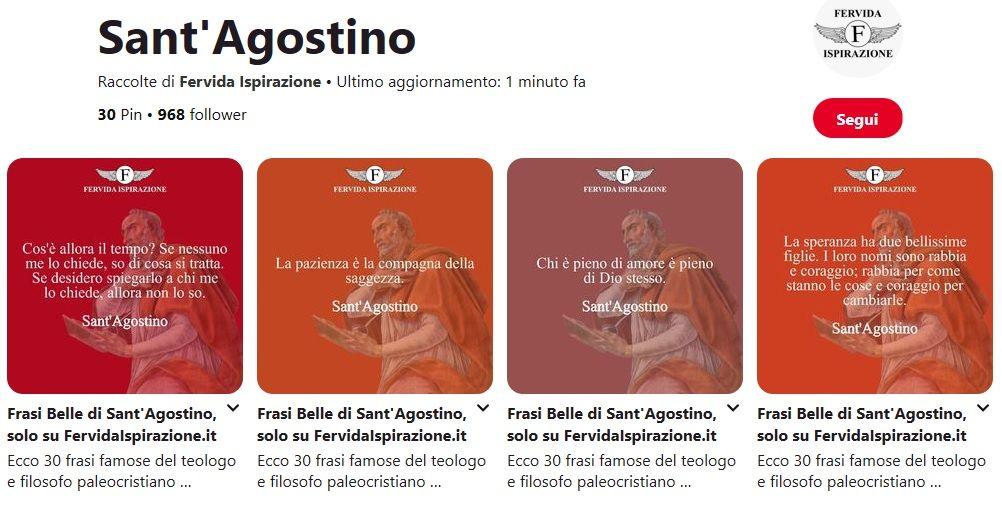 Frasi di Sant'Agostino - Bacheca Pinterest - Fervida Ispirazione