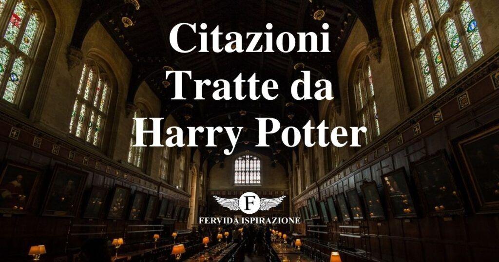 Citazioni Tratte da Harry Potter - Copertina Articolo - Fervida Ispirazione