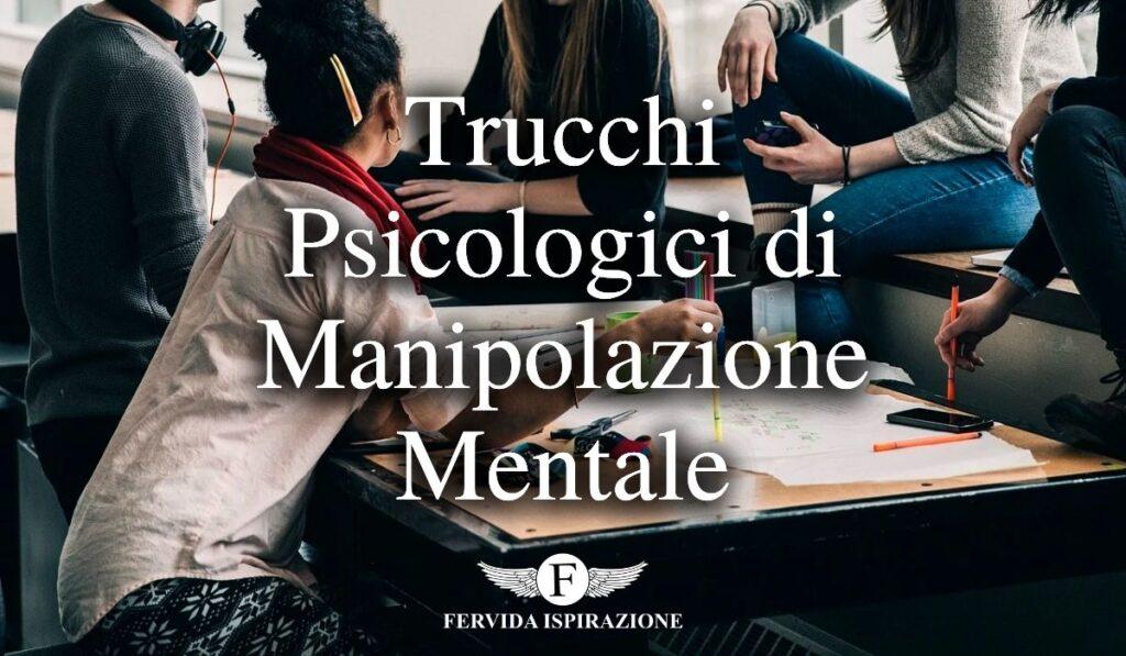 Trucchi psicologici di manipolazione mentale - Copertina Articolo - Fervida Ispirazione