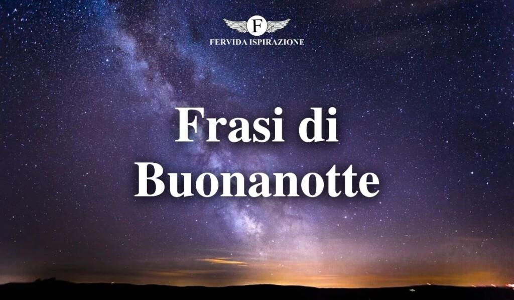 Frasi di Buonanotte - Copertina Articolo - Fervida Ispirazione
