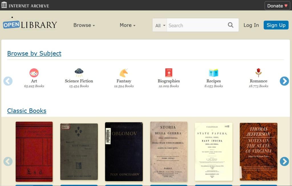 Open Library Libri eBook Gratis in Inglese