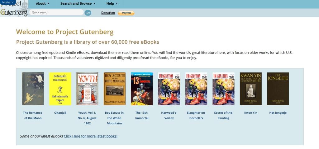 Project Gutenberg Libri eBook Gratis Italiano e Inglese