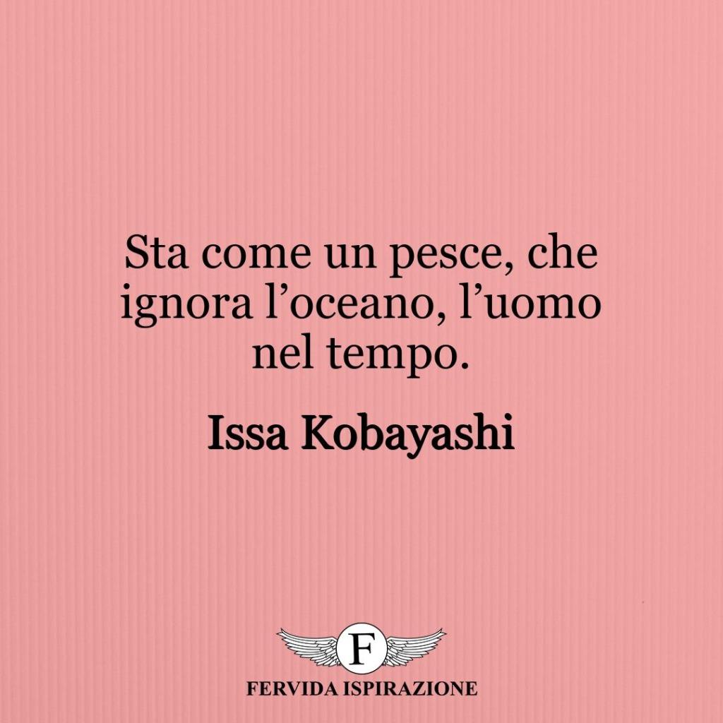 Sta come un pesce, che ignora l'oceano, l'uomo nel tempo. ~ Issa Kobayashi