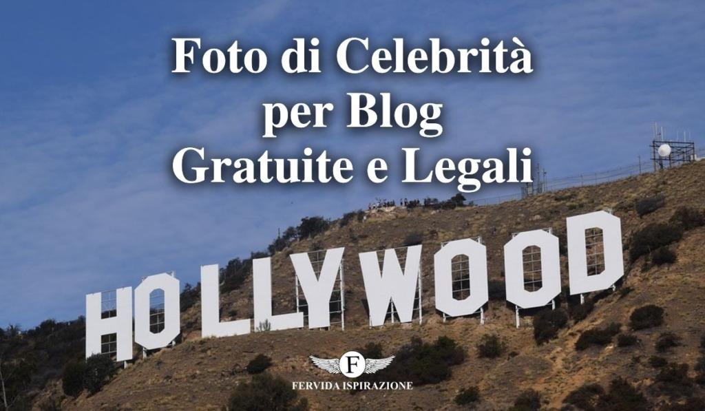 Come ottenere foto di celebrità per blog gratuite e legali